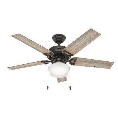 Viola 52 in. LED Indoor Noble Bronze Ceiling Fan with Light Kit