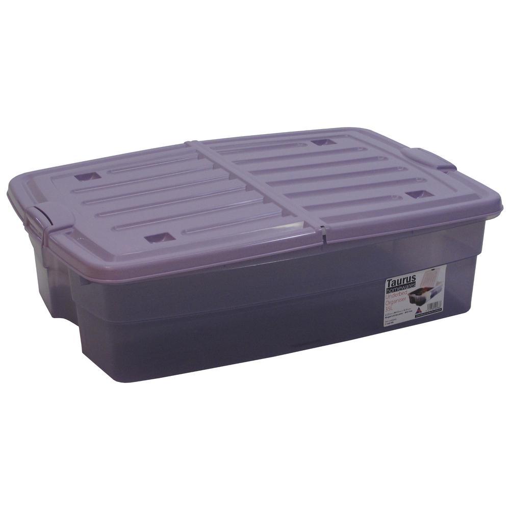 10 Gal. Underbed Storage Organizer Tote in Lavender