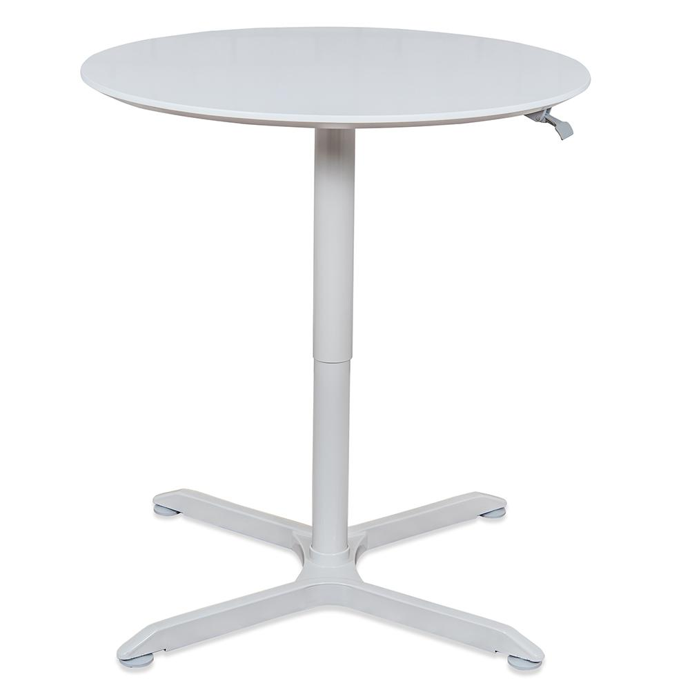 Luxor In Pneumatic Height Adjustable Round Cafe TableLXPNADJ - Round metal cafe table