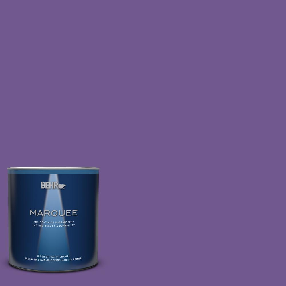 BEHR MARQUEE 1 qt. #P570-6 Classic Waltz Satin Enamel Interior Paint and Primer in One