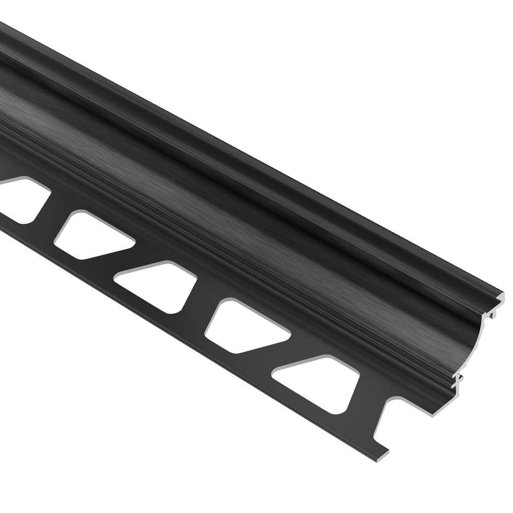 Dilex-AHK Brushed Graphite Anodized Aluminum 9/16 in. x 8 ft. 2-1/2