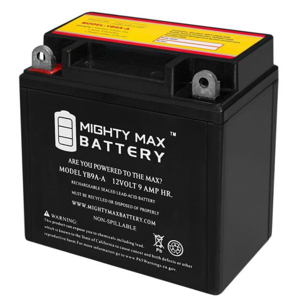 12-Volt 9 Ah 130 CCA Rechargeable Sealed Lead Acid (SLA) Powersport Battery