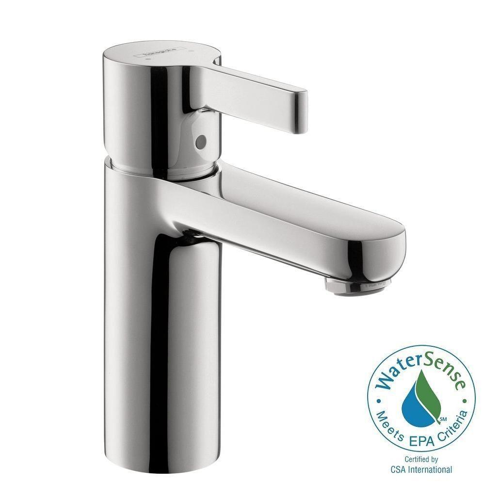 Hansgrohe Metris S Single Hole Single-Handle Mid-Arc Bathroom Faucet ...