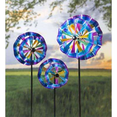 Ruffle 75 in. Assorted Size Wind Spinners (Set of 3)