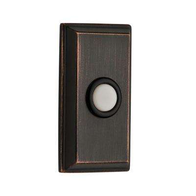 Wired Rectangular Bell Button - Venetian Bronze