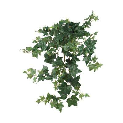 Indoor 32 in. Puff Ivy Hanging Artificial Plant (3-Set)