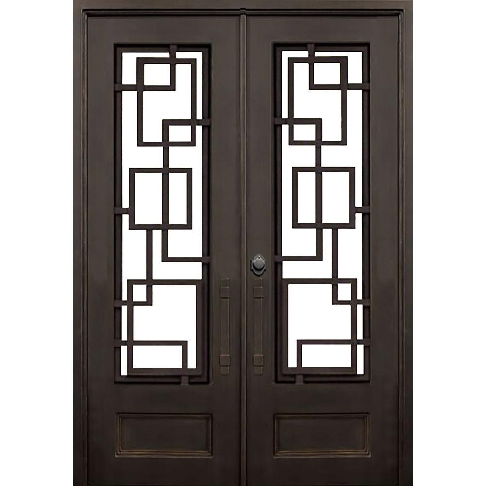 Allure Iron Doors Windows 72 In X 96 In St Andrews Dark Bronze