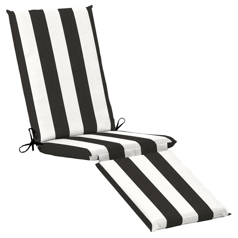 Home Decorators Collection 19 x 74 Sunbrella Cabana Classic Outdoor Chaise Lounge Cushion