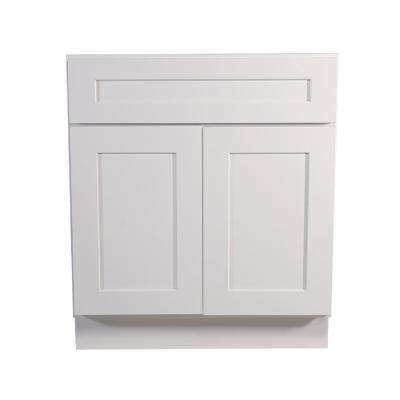 Brookings Fully Assembled 27x34.5x24 in. Kitchen Base Cabinet in White