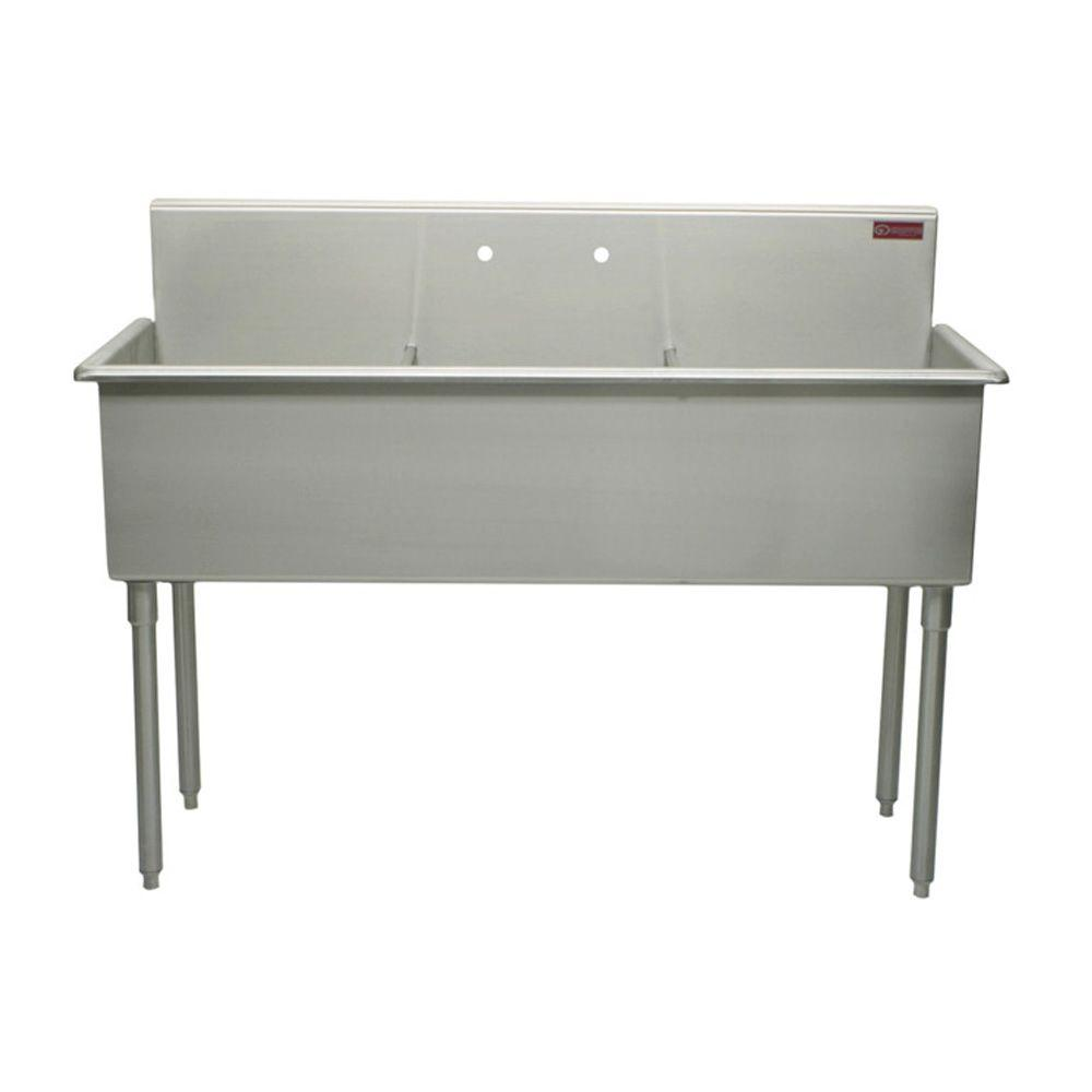 Griffin Products T-Series 51 in. Stainless Steel Scullery Sink