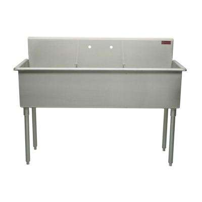 T-Series 51 in. Stainless Steel Scullery Sink
