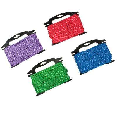 3/16 in. x 100 ft. Polypropylene Diamond Braid Rope, Assorted Colors