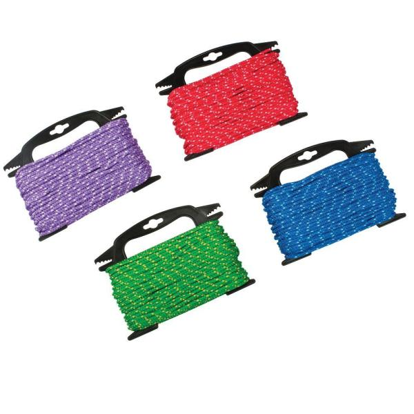 3/16 in. x 100 ft. Assorted Colors Polypropylene Diamond Braid Rope with Winder