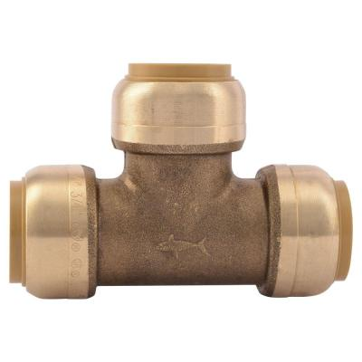 3/4 in. Brass Push-to-Connect Tee (10-Pack)
