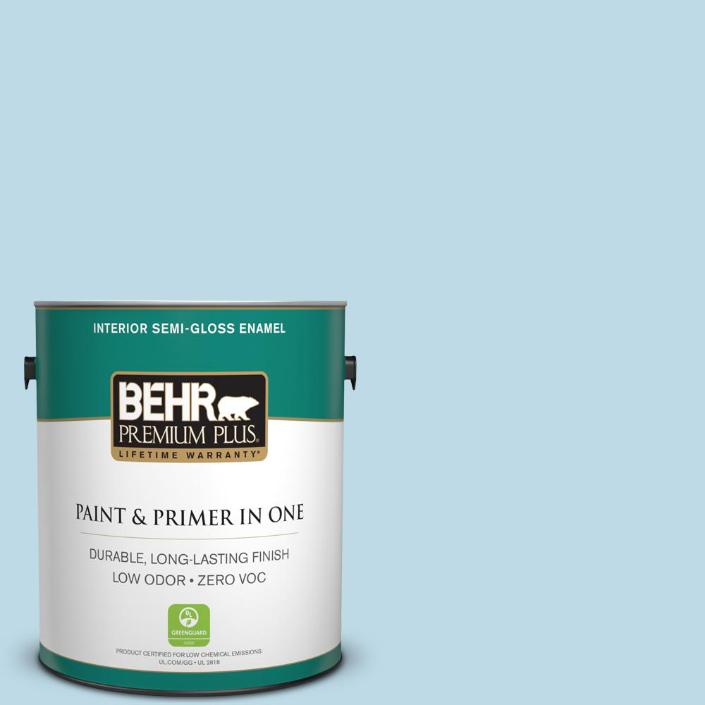 BEHR Premium Plus 1-gal. #M500-1 Tinted Ice Semi-Gloss Enamel Interior Paint