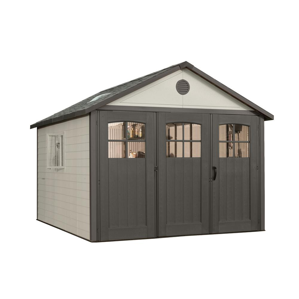 Attrayant Rubbermaid Big Max 2 Ft. 6 In. X 4 Ft. 3 In. Large Vertical Resin Storage  Shed 1887156   The Home Depot