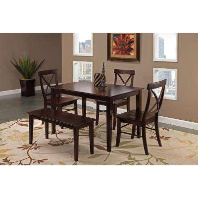 Rich Mocha Solid Wood Dining Table