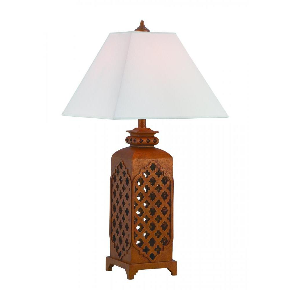 Rusted Bronze Table Lamp. Hampton Bay Rhodes 28 in  Bronze Table Lamp with Natural Linen