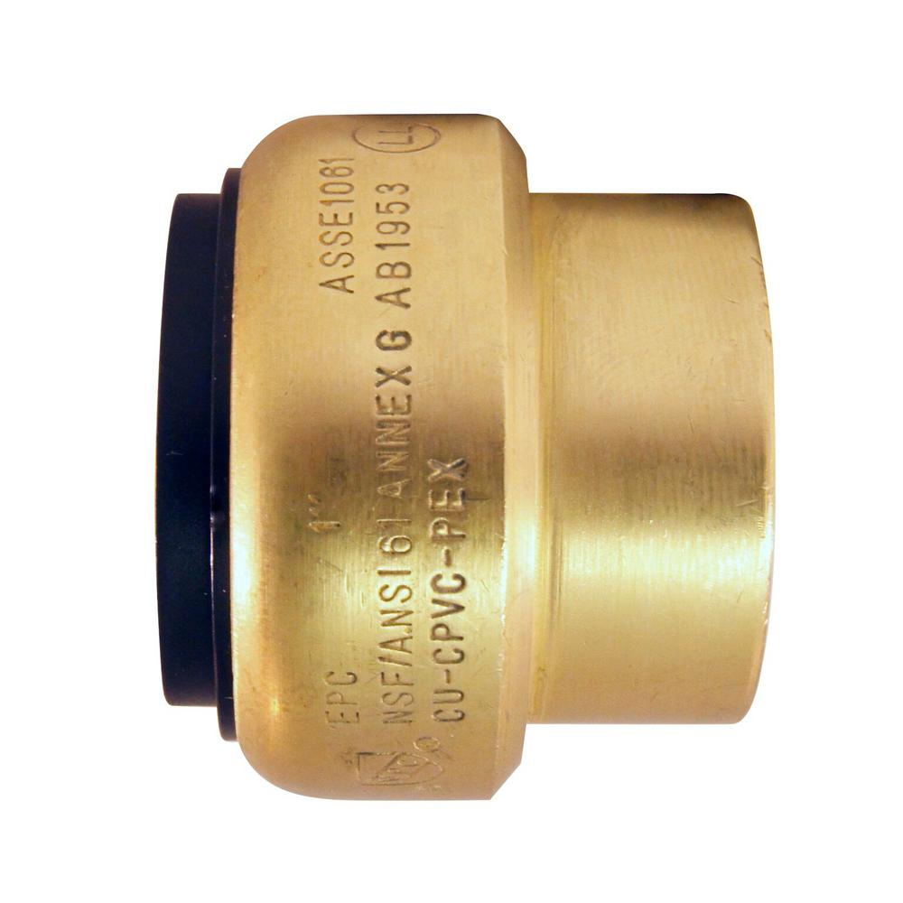 1 in. Brass Push-to-Connect Cap