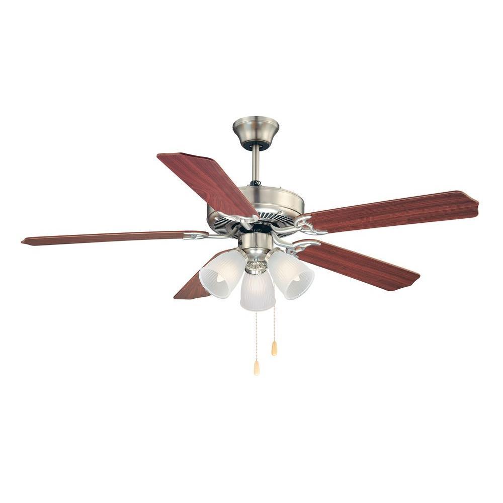 First Value 52 in. Satin Nickel Ceiling Fan