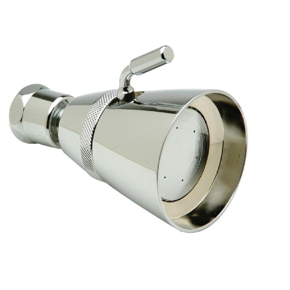 1-Spray 2.25 in. Adjustable Showerhead in Chrome