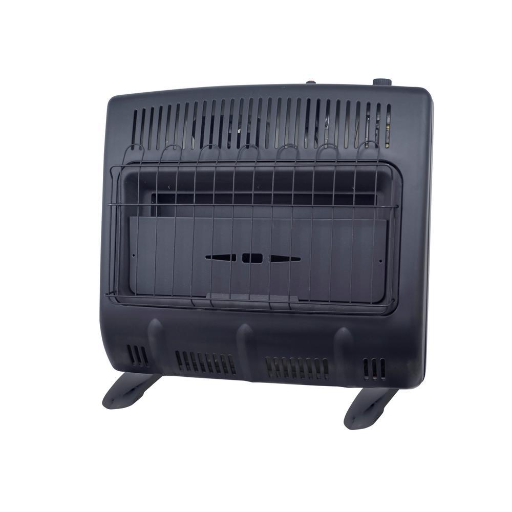 30,000 BTU Vent-Free Propane Garage Heater, Black