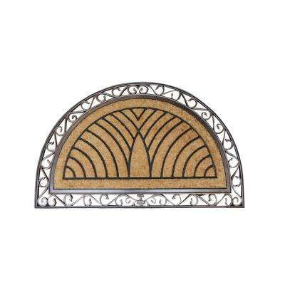 A1HC First Impression Hand-Crafted Elegant Half-Round 30 in. x 48 in. Coir Door Mat