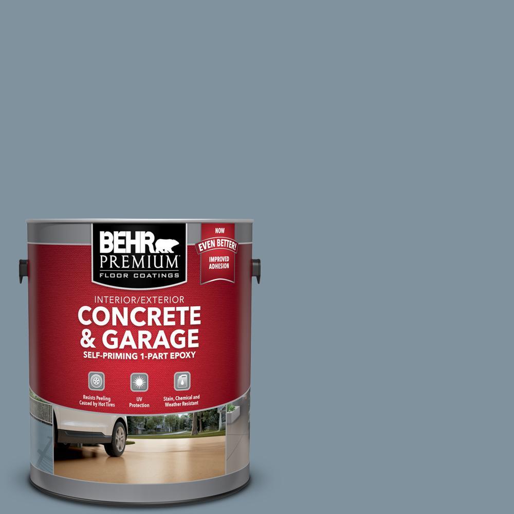 1 gal. #PFC-54 Blue Tundra Self-Priming 1-Part Epoxy Satin Interior/Exterior Concrete and Garage Floor Paint