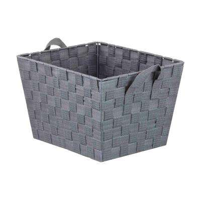 13 in. x 5 in. Gray Non Stackable Bin