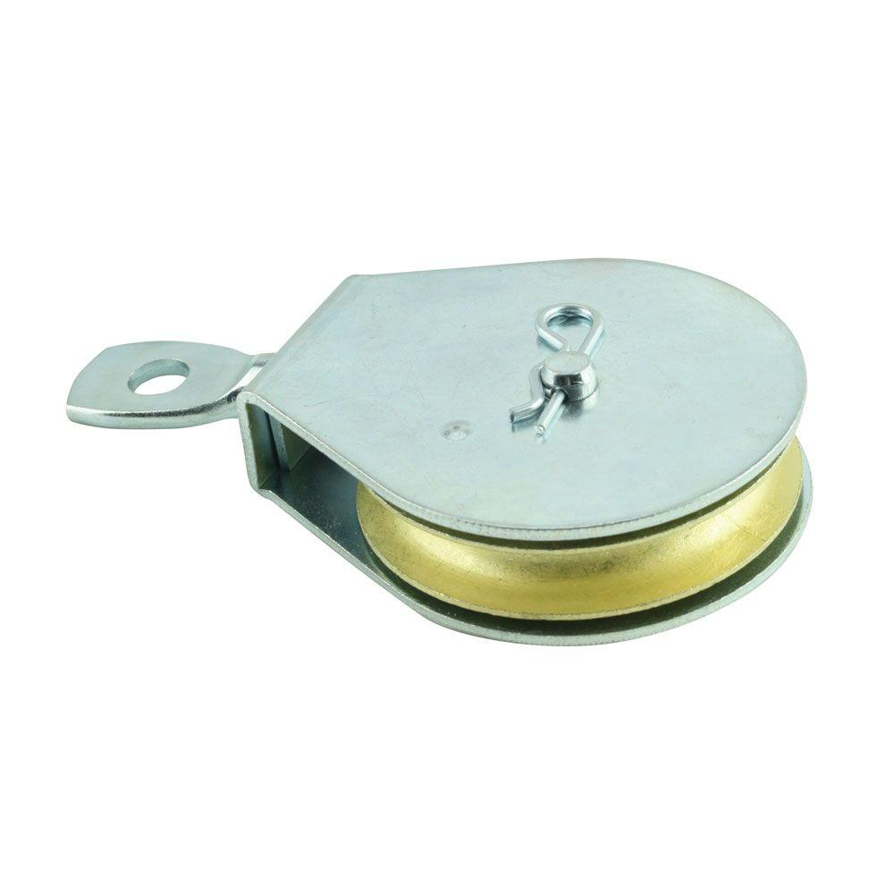 Everbilt 1 1 2 In Zinc Plated Swivel Single Pulley 44154 The Home