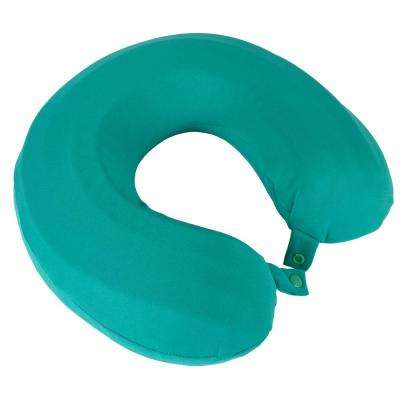 Turquoise Breathable Memory Foam Neck Travel Pillow