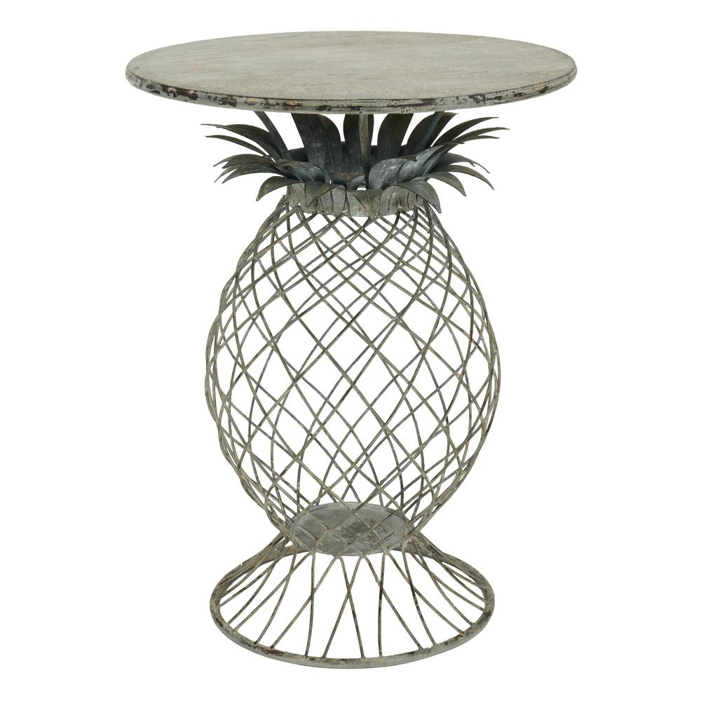 Bombay Outdoors Kailua Pineapple Metal Outdoor Side Table