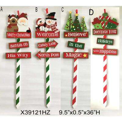 36 in. Holiday Yard Stake (4 Assorted Styles)