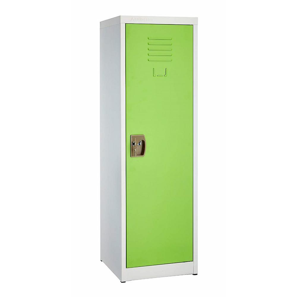 48 in. H x 15 in. W Steel Single Tier Locker in Green