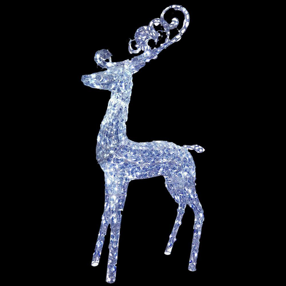 Home Depot Decorations: National Tree Company 60 In. Reindeer Decoration With LED