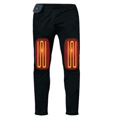Men's Large Black 5-Volt Heated Base Layer Pants