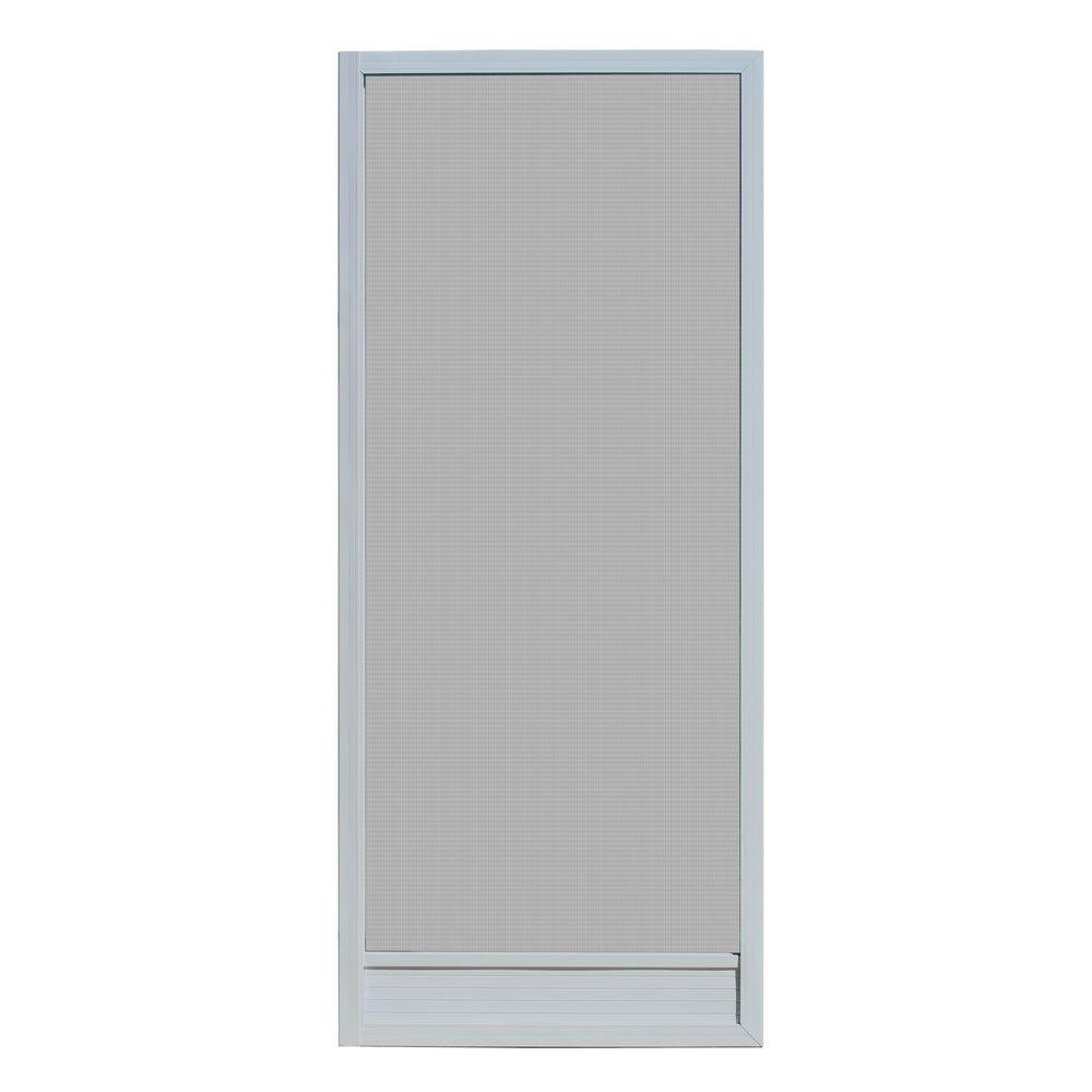 30 in. x 80 in. Delray Grey Outswing Metal Hnged Screen