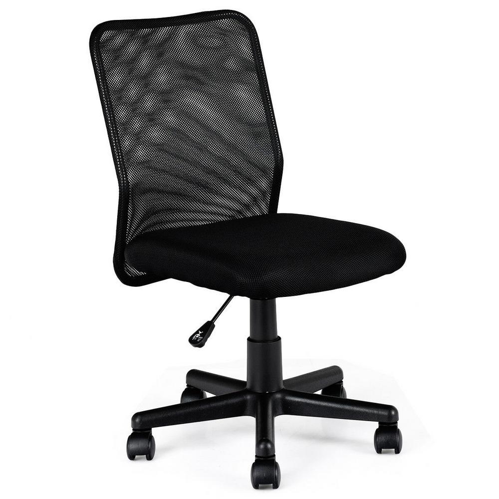 New Black Mid-Back Adjustable Ergonomic Mesh Swivel Durable Office Desk Task Chair
