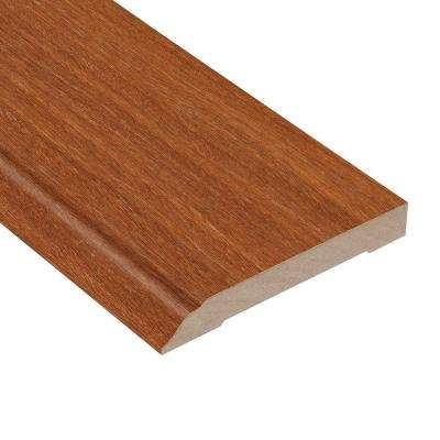 Matte Light Cumaru 1/2 in. Thick x 3-1/2 in. Wide x 94 in. Length Hardwood Wall Base Molding