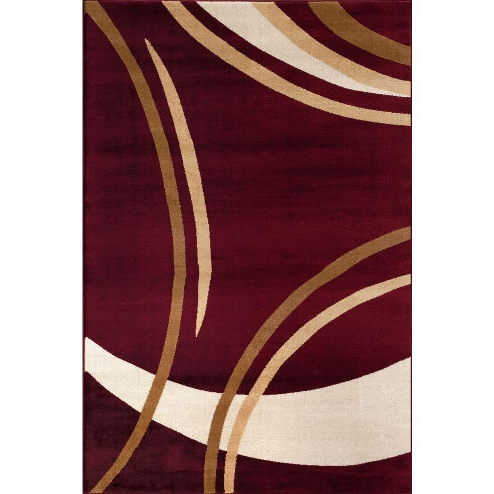 World Rug Gallery Contemporary Modern Wavy Circles