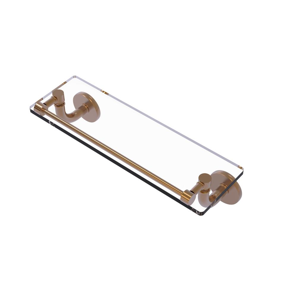 Remi Collection 16 in. Glass Vanity Shelf with Gallery Rail in