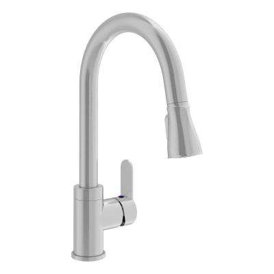 Identity Single-Handle Pull-Down Sprayer Kitchen Faucet in Stainless Steel