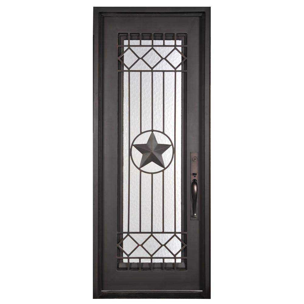 Iron Doors Unlimited 46 In. X 97.5 In. Texas Star Classic Full Lite Painted