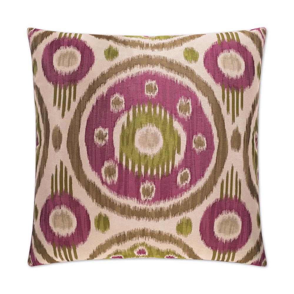 Satara Aubergine Feather Down 24 in. x 24 in. Standard Decorative Throw Pillow