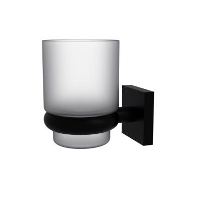 Montero Collection Wall Mounted Tumbler Holder in Matte Black