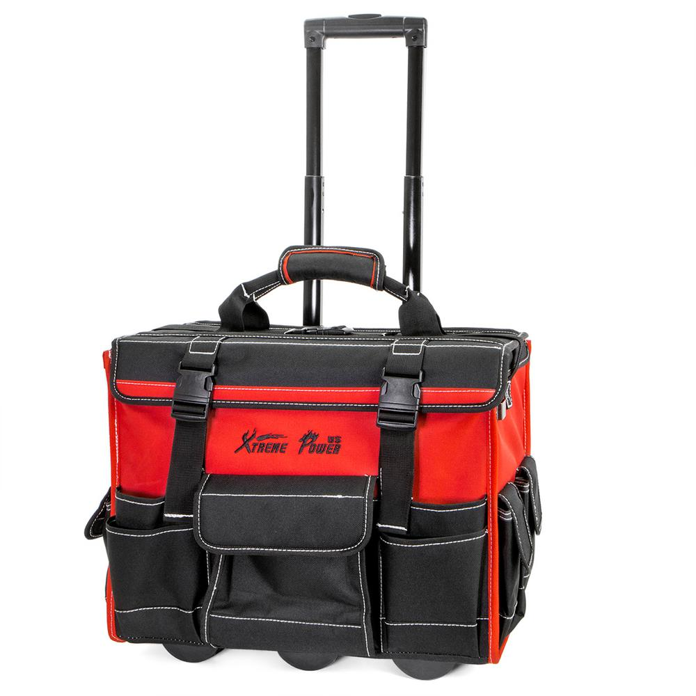 XtremepowerUS 18 in. x 11 in. Jobsite Rolling Tool Bag Backpack ... c63f0d1f6b