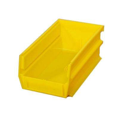LocBin 14-3/4 in. L x 8-1/4 in. W x 7 in. H Yellow Stacking, Hanging, Interlocking Polypropylene Bins, 6 CT