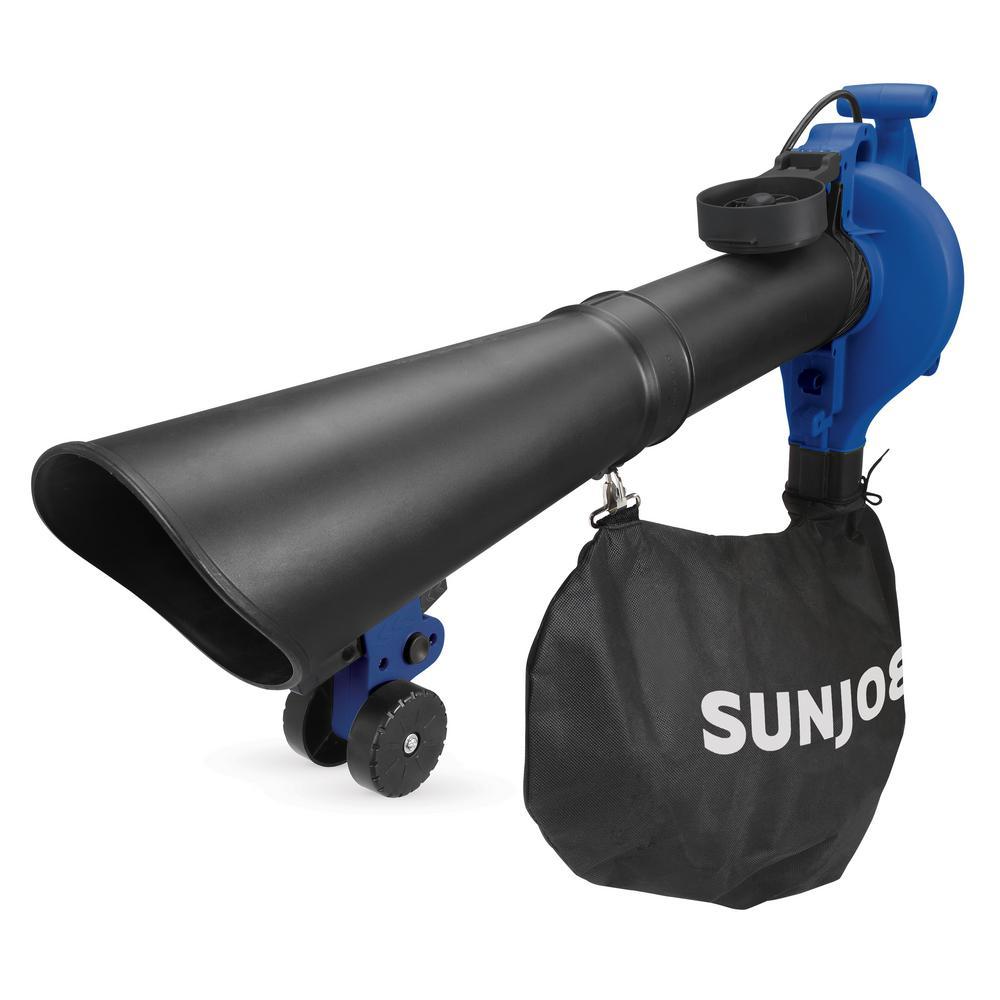 Sun Joe 250 MPH 440 CFM 14-Amp Electric Handheld Blower Vacuum and Mulcher in Blue