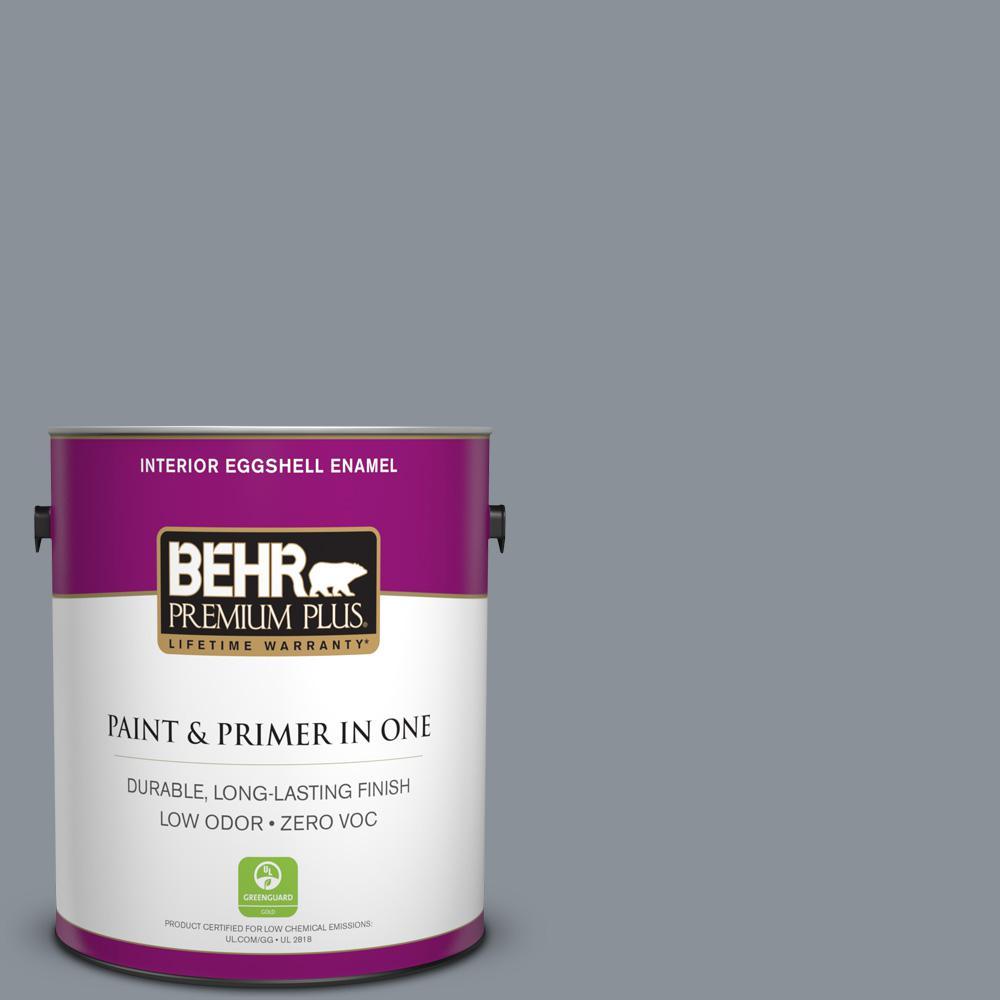 1 gal. #PPU18-04 Dark Pewter Zero VOC Eggshell Enamel Interior Paint