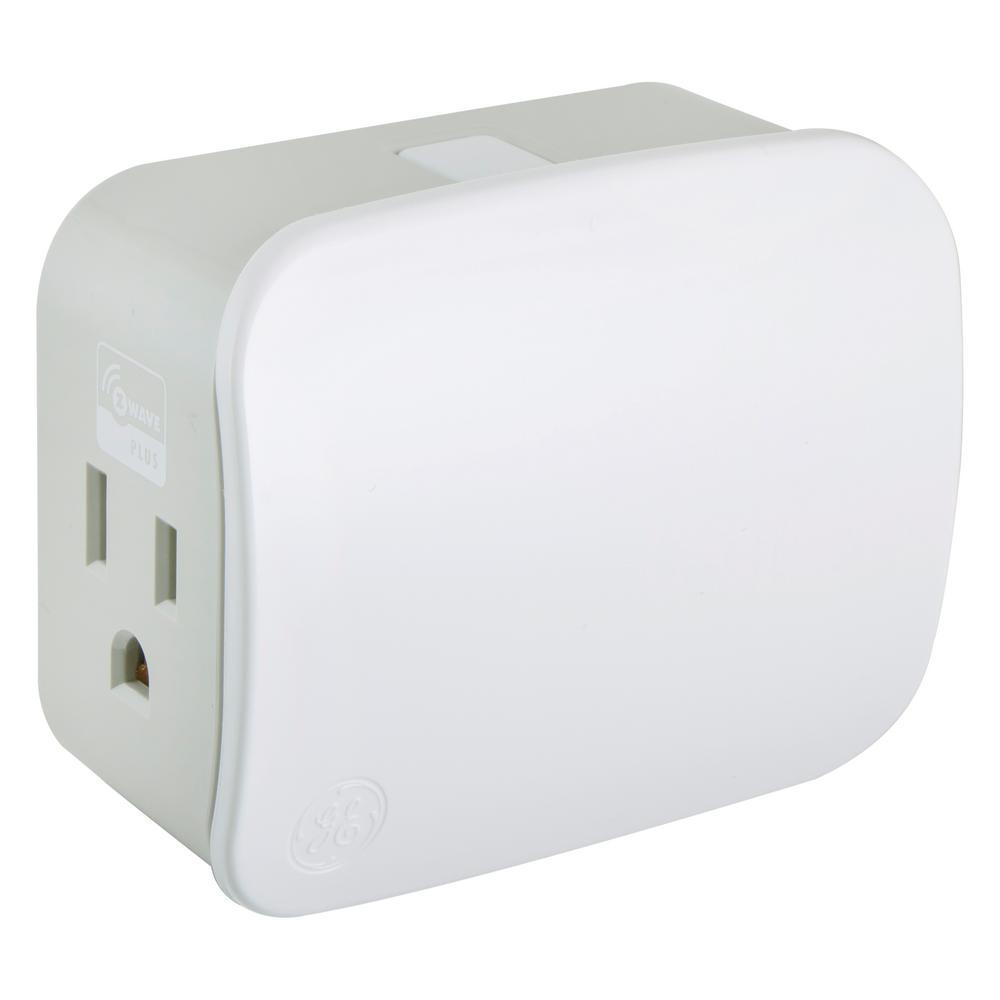 Ge Single Plug Z Wave Plug In Ez Smart Dimmer 28167 The Home Depot